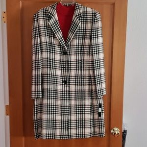 Plaid Wool Coat with shirt